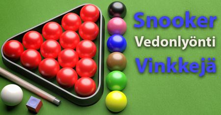 Snooker Vedonlyonti Vinkkeja