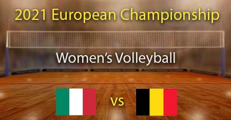 Italia - Belgia 2021 Naisten lentopallon Euroopan mestaruuden